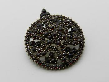 Brooch with Garnet - Czech garnet - 1930
